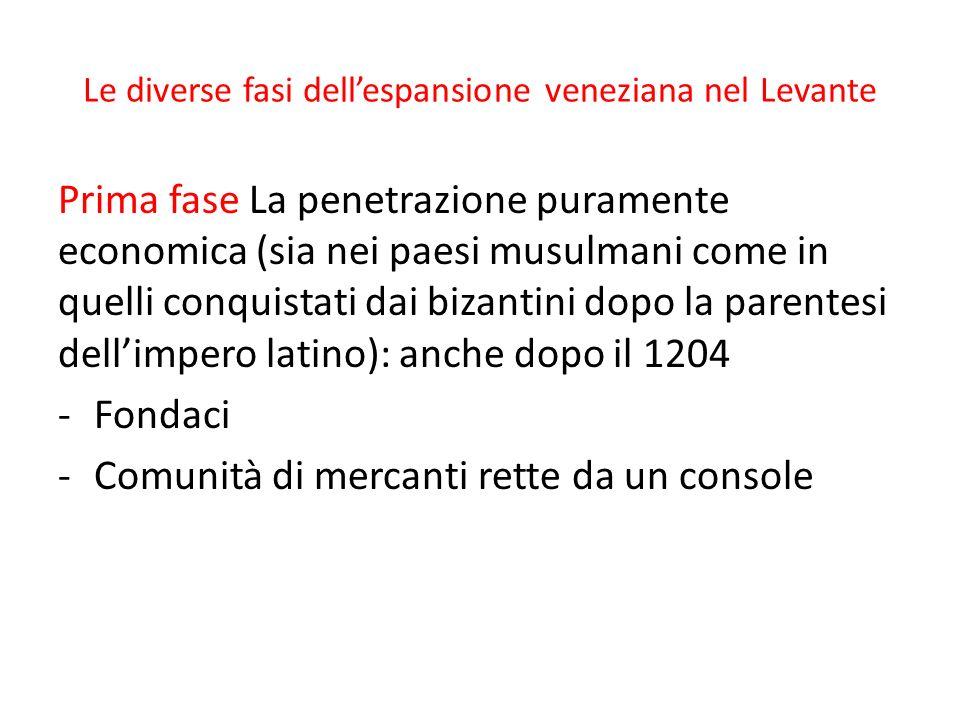 Le diverse fasi dell'espansione veneziana nel Levante