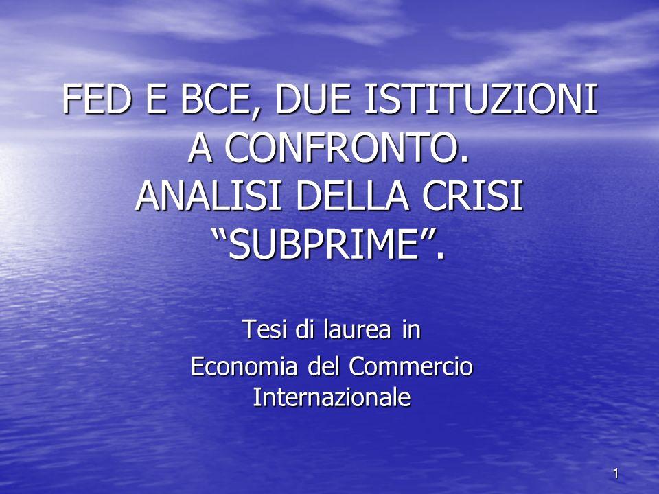 Tesi di laurea in Economia del Commercio Internazionale