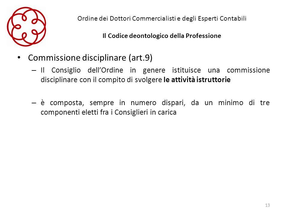 Commissione disciplinare (art.9)