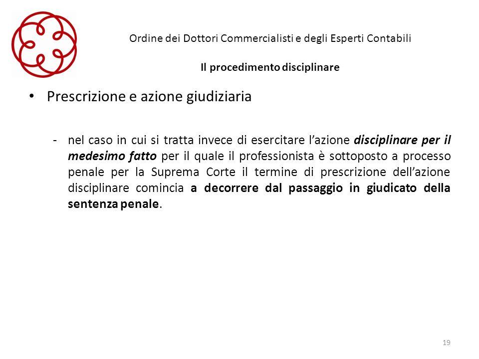 Prescrizione e azione giudiziaria