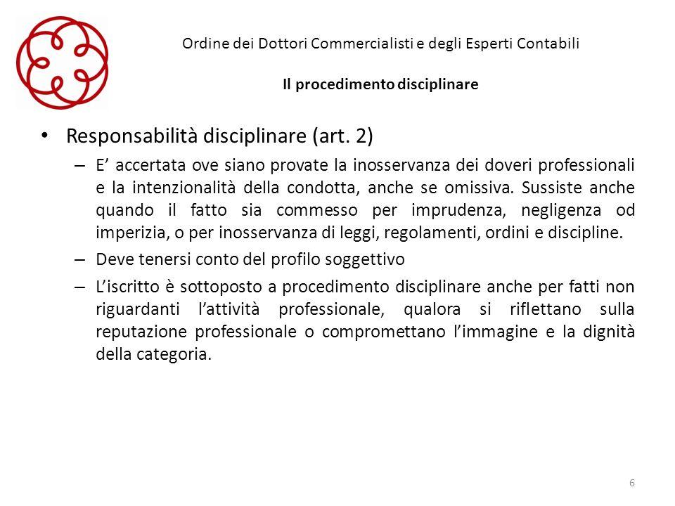 Responsabilità disciplinare (art. 2)