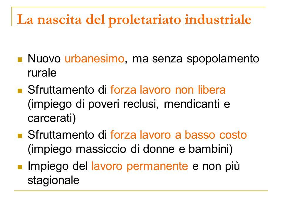 La nascita del proletariato industriale