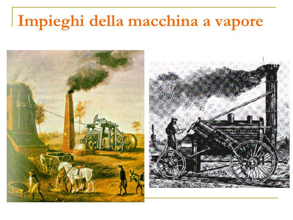 Impieghi della macchina a vapore