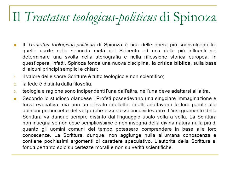 Il Tractatus teologicus-politicus di Spinoza