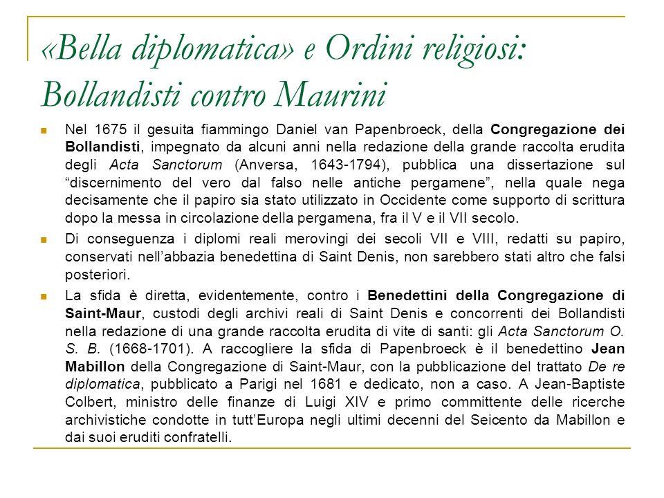 «Bella diplomatica» e Ordini religiosi: Bollandisti contro Maurini