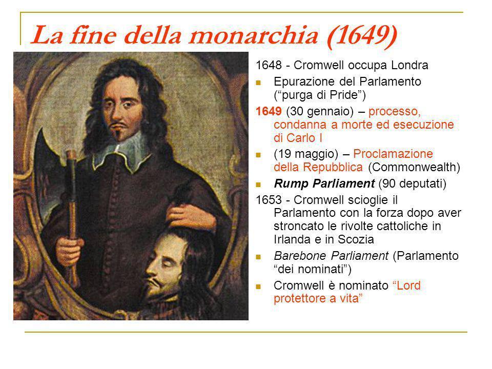 La fine della monarchia (1649)