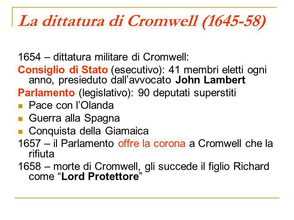La dittatura di Cromwell (1645-58)