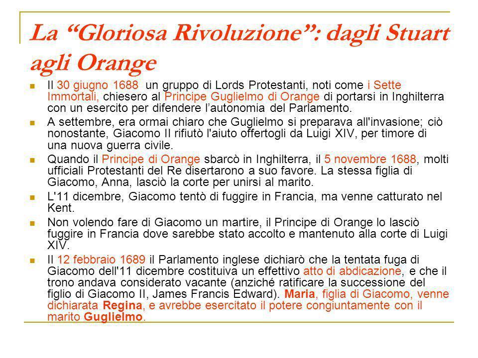 La Gloriosa Rivoluzione : dagli Stuart agli Orange