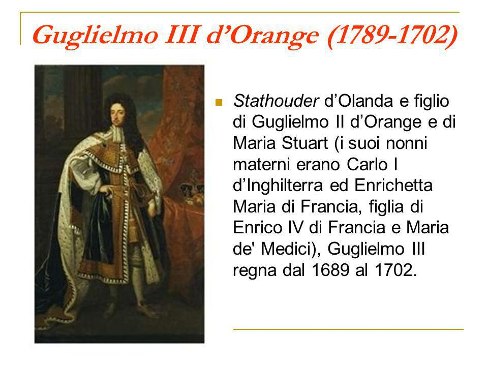 Guglielmo III d'Orange (1789-1702)