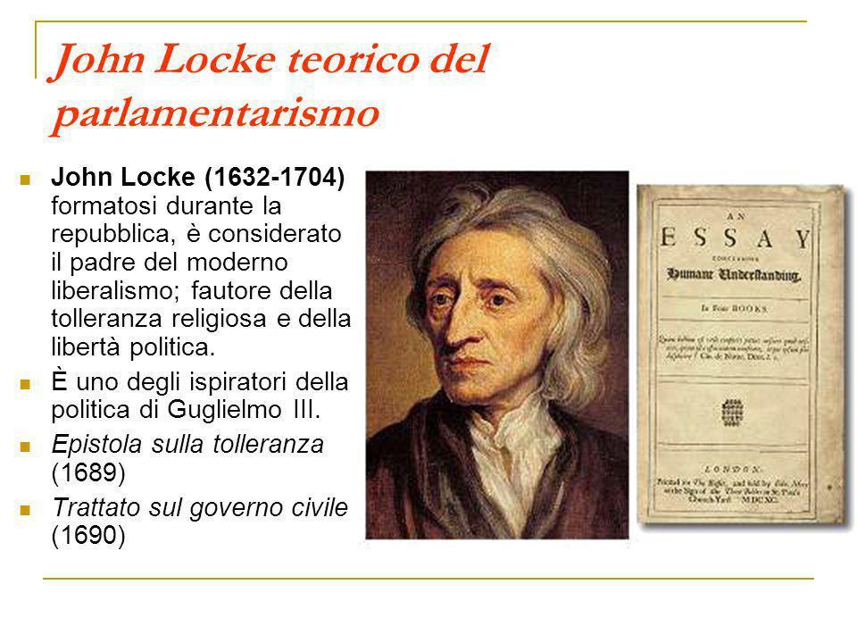 John Locke teorico del parlamentarismo