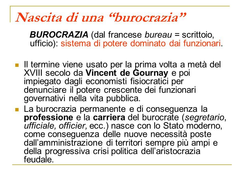 Nascita di una burocrazia