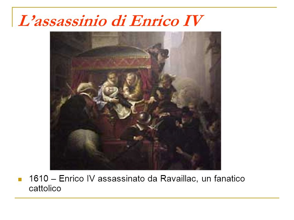 L'assassinio di Enrico IV