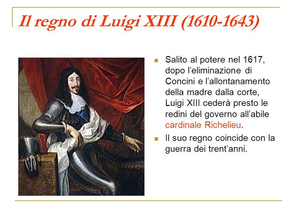 Il regno di Luigi XIII (1610-1643)