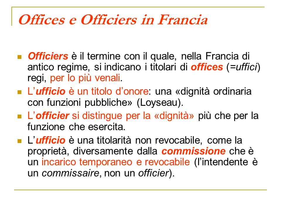 Offices e Officiers in Francia