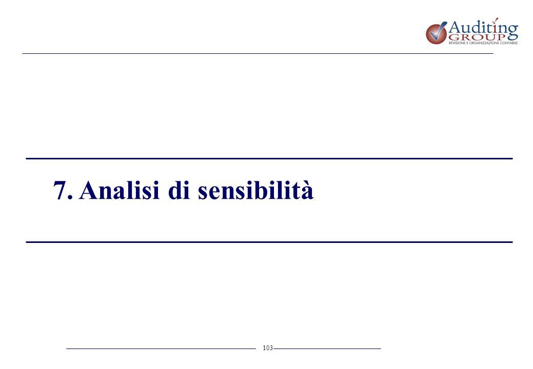 7. Analisi di sensibilità