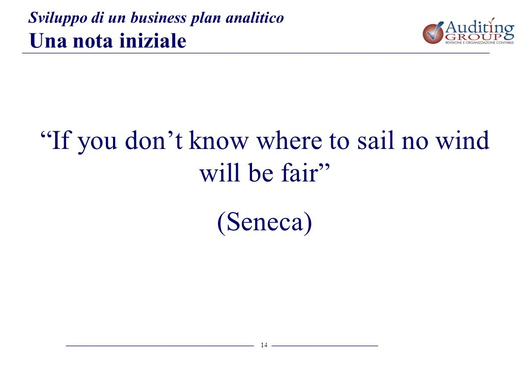 If you don't know where to sail no wind will be fair