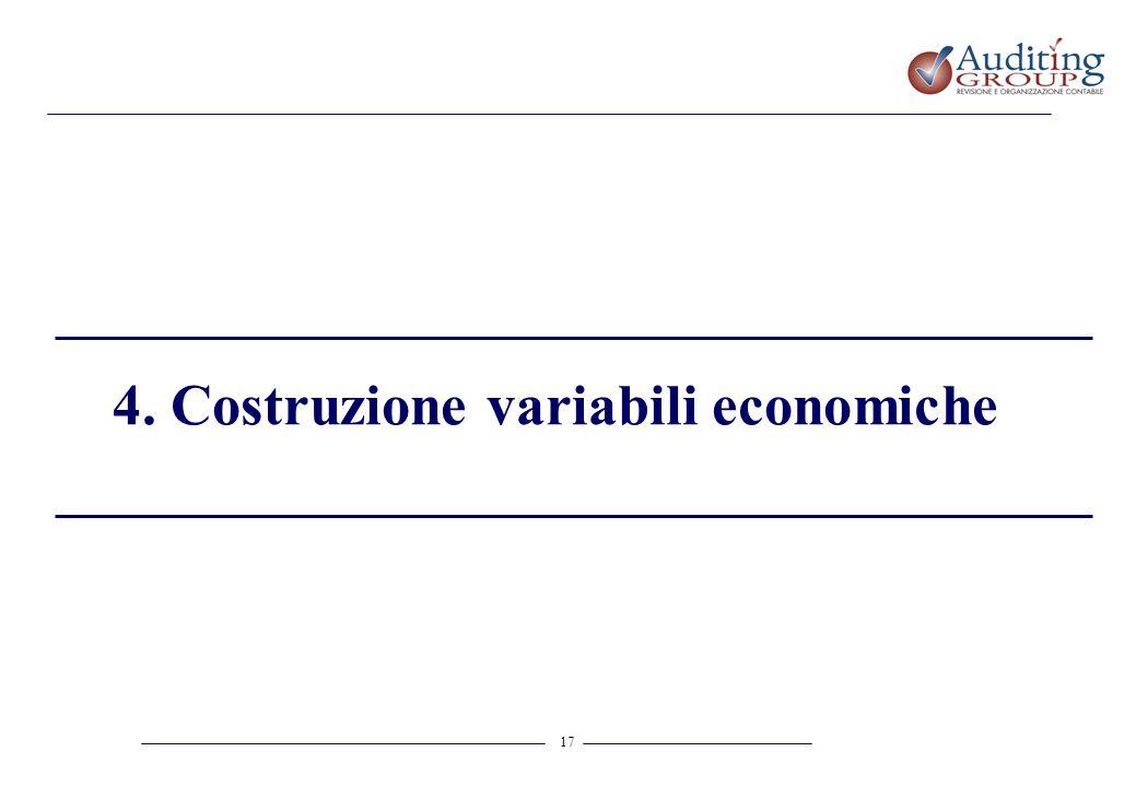 4. Costruzione variabili economiche