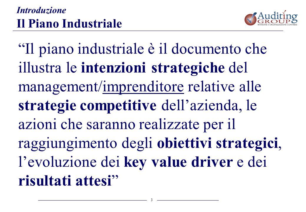Introduzione Il Piano Industriale.