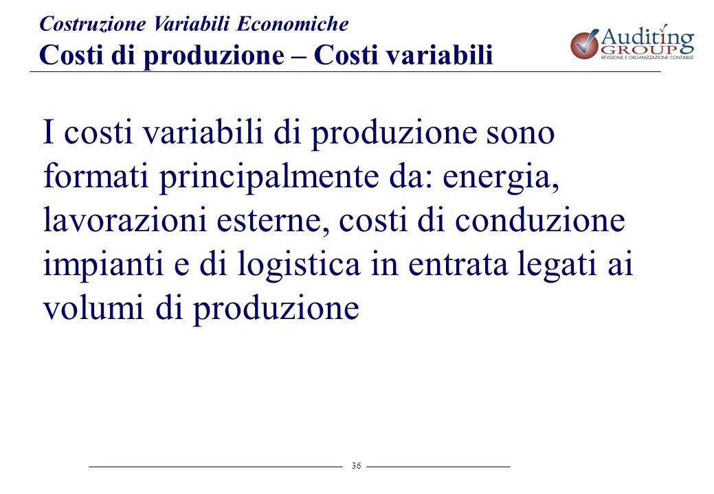 Costruzione Variabili Economiche