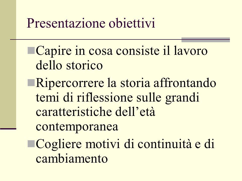 Presentazione obiettivi