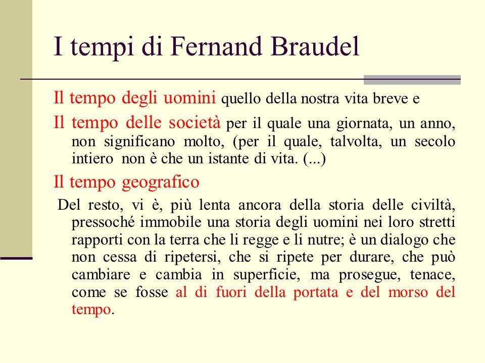 I tempi di Fernand Braudel