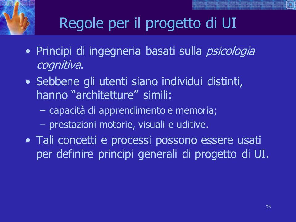 Regole per il progetto di UI