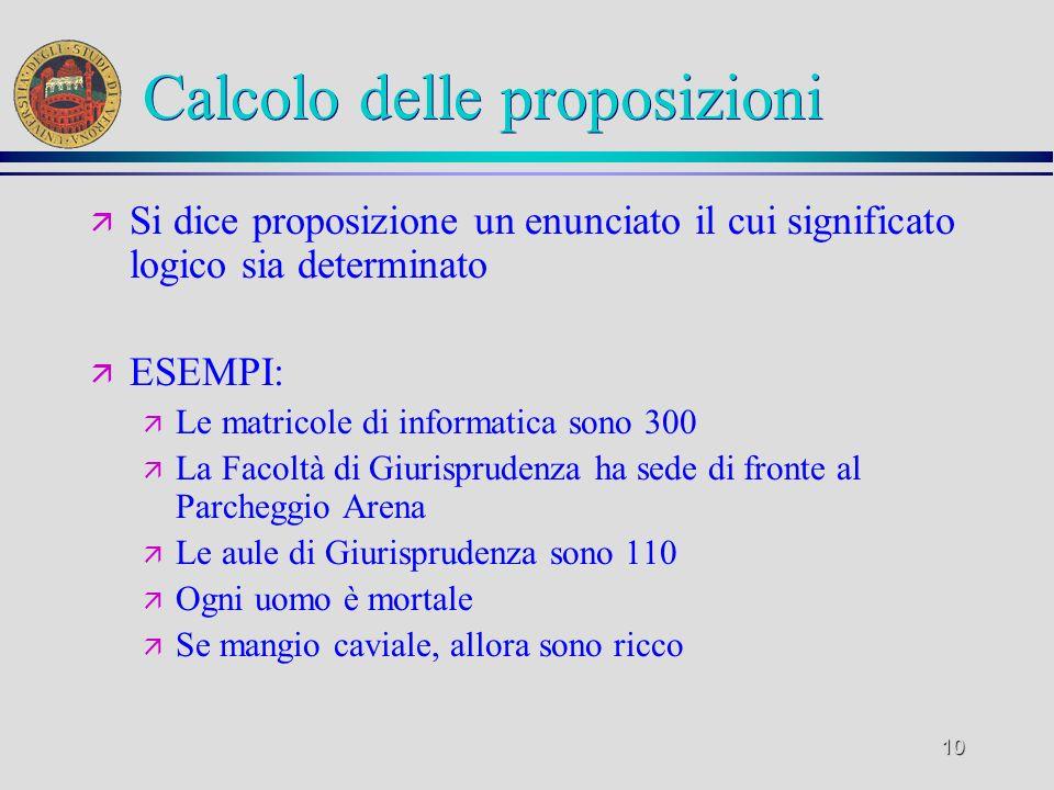 Calcolo delle proposizioni