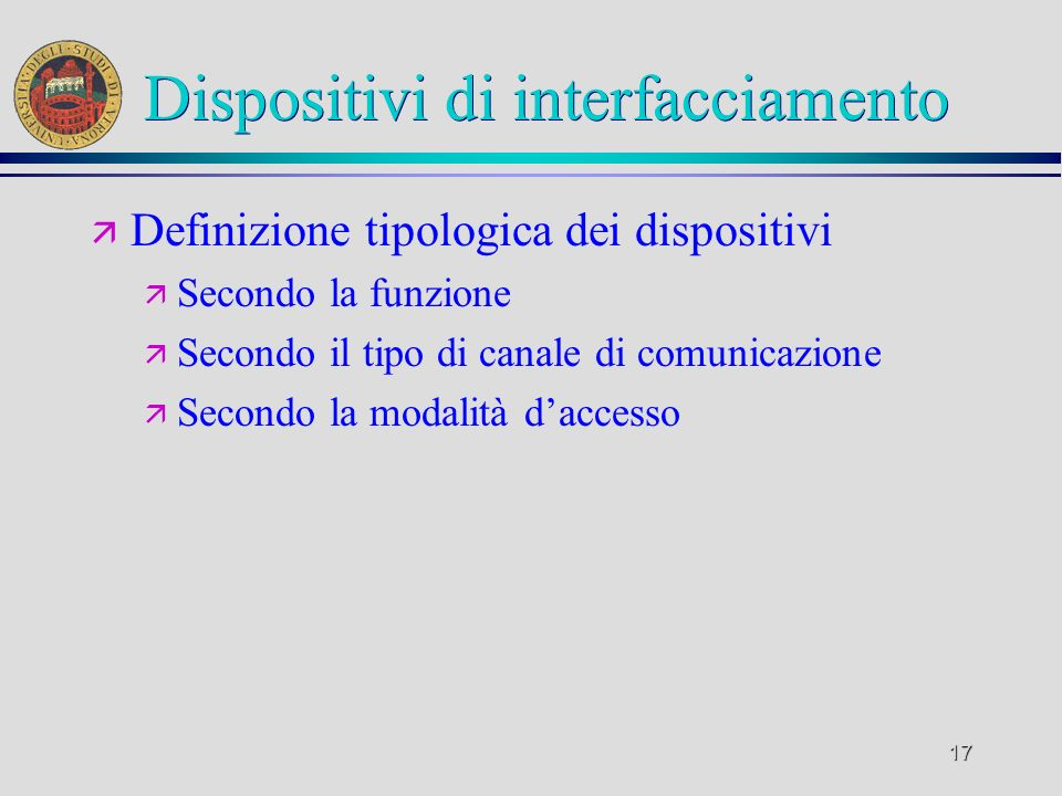 Dispositivi di interfacciamento