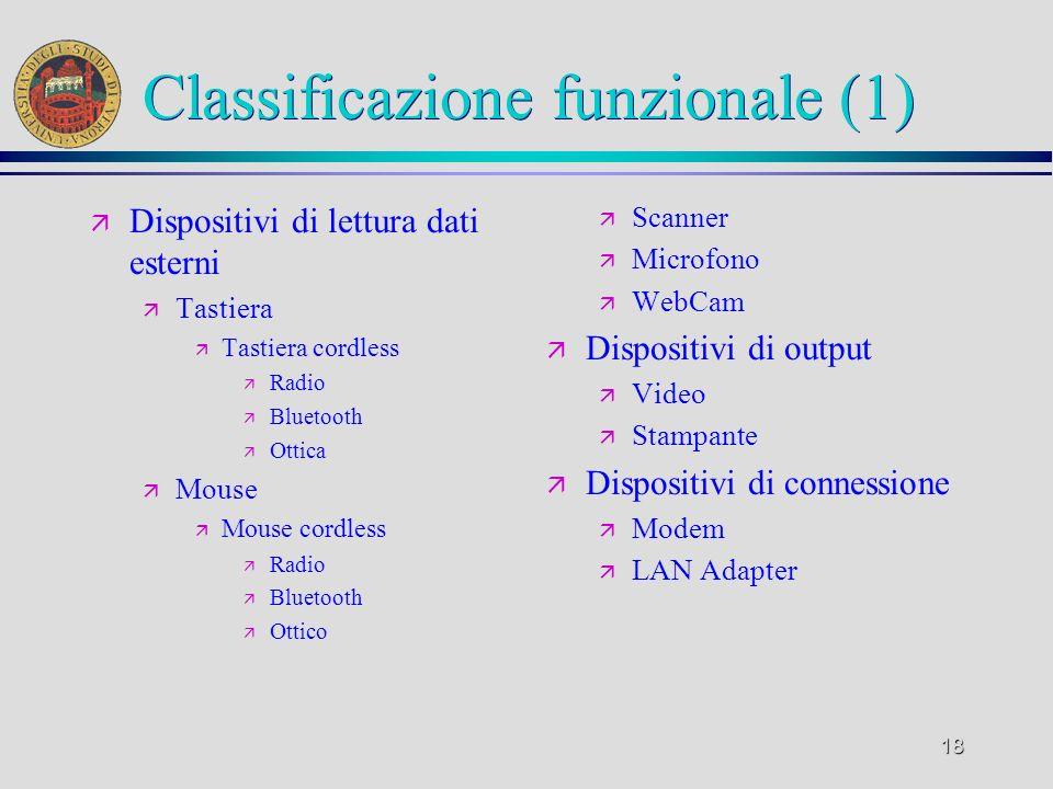 Classificazione funzionale (1)