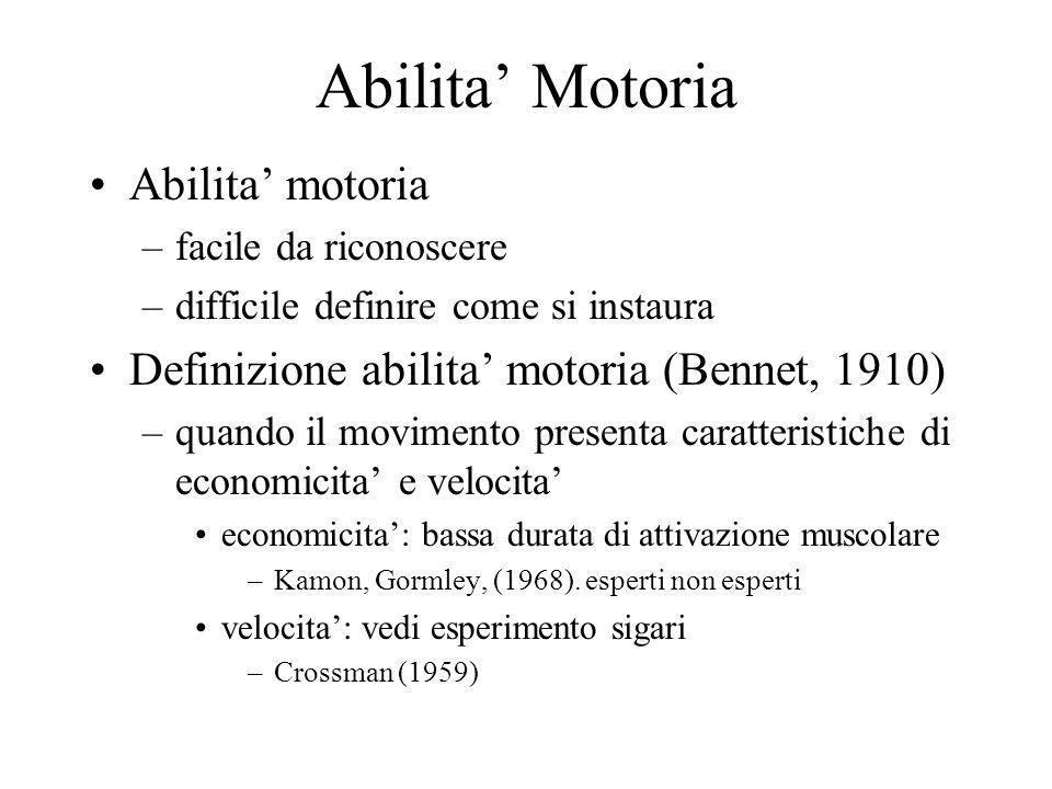 Abilita' Motoria Abilita' motoria