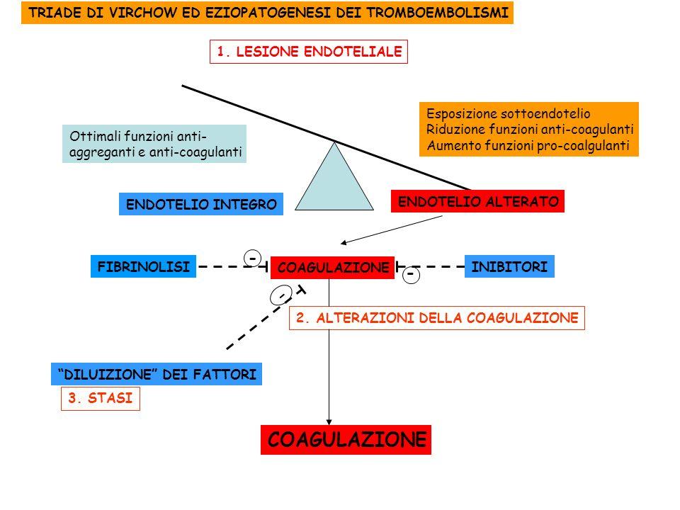 TRIADE DI VIRCHOW ED EZIOPATOGENESI DEI TROMBOEMBOLISMI