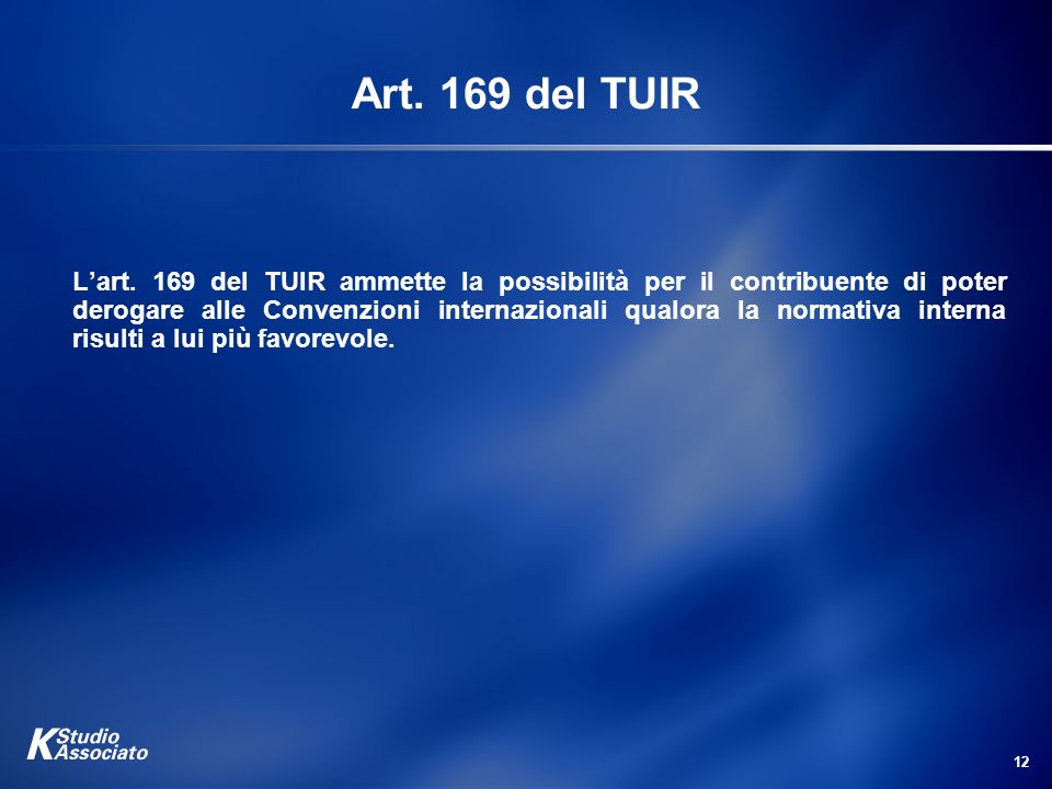 Art. 169 del TUIR