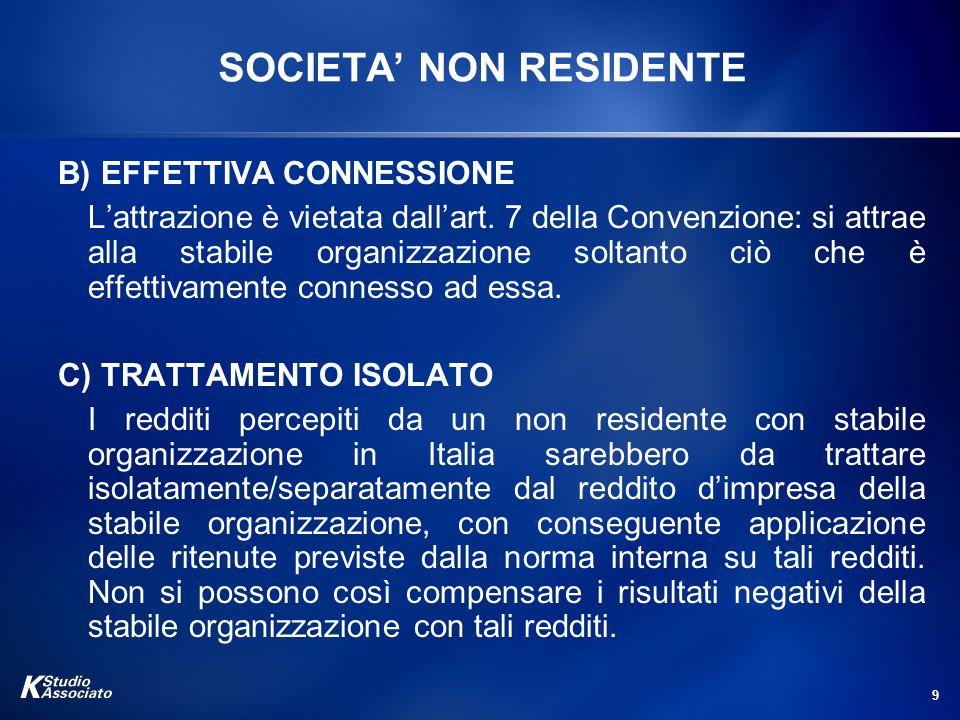 SOCIETA' NON RESIDENTE
