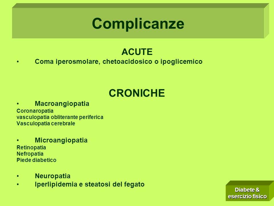 Complicanze: Complicanze CRONICHE ACUTE