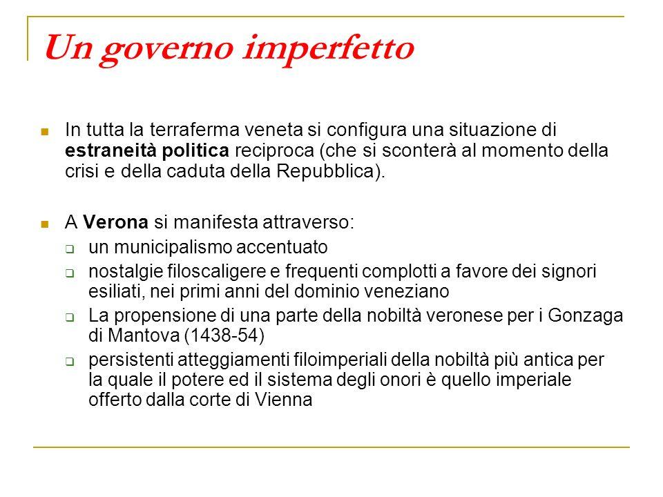 Un governo imperfetto