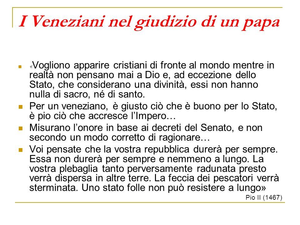 I Veneziani nel giudizio di un papa