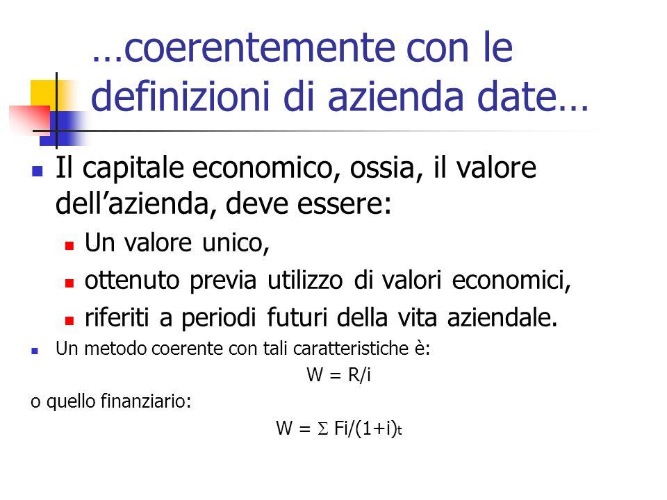 …coerentemente con le definizioni di azienda date…