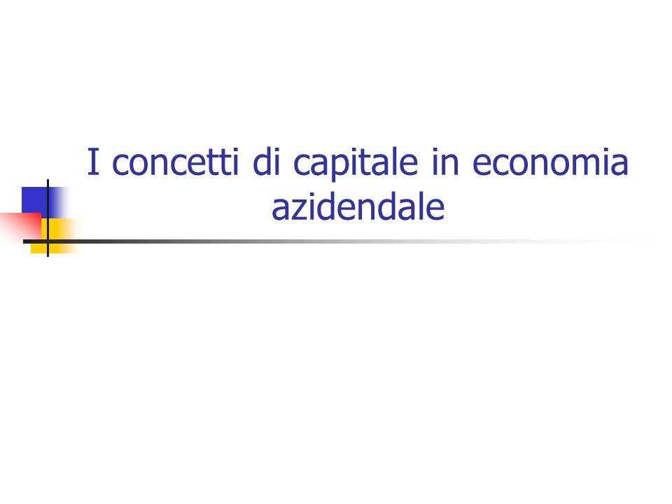 I concetti di capitale in economia azidendale