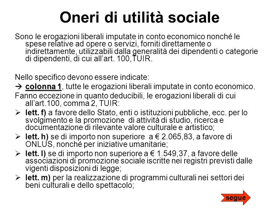 Oneri di utilità sociale