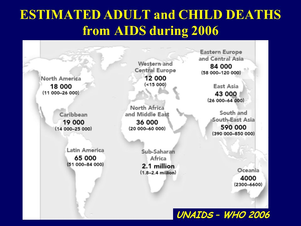 ESTIMATED ADULT and CHILD DEATHS from AIDS during 2006