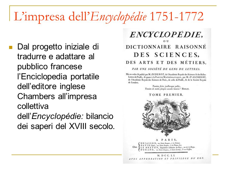 L'impresa dell'Encyclopédie 1751-1772
