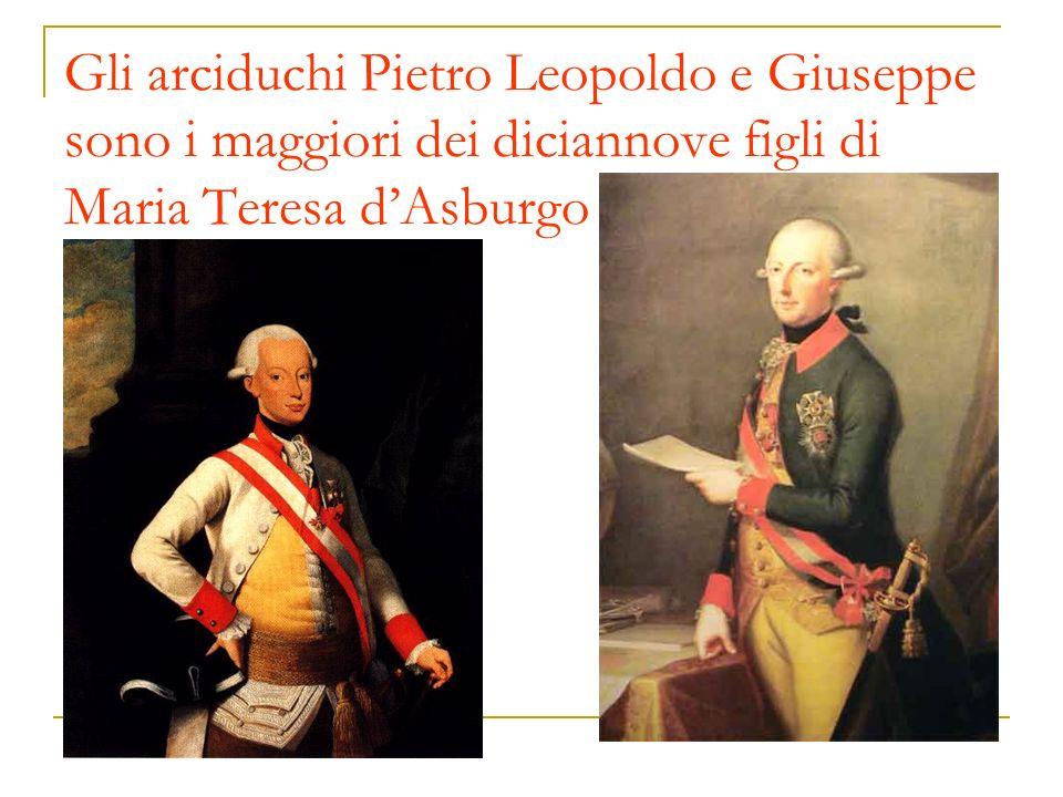 Gli arciduchi Pietro Leopoldo e Giuseppe sono i maggiori dei diciannove figli di Maria Teresa d'Asburgo