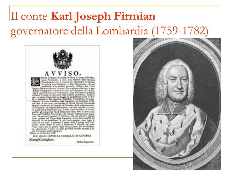Il conte Karl Joseph Firmian governatore della Lombardia (1759-1782)