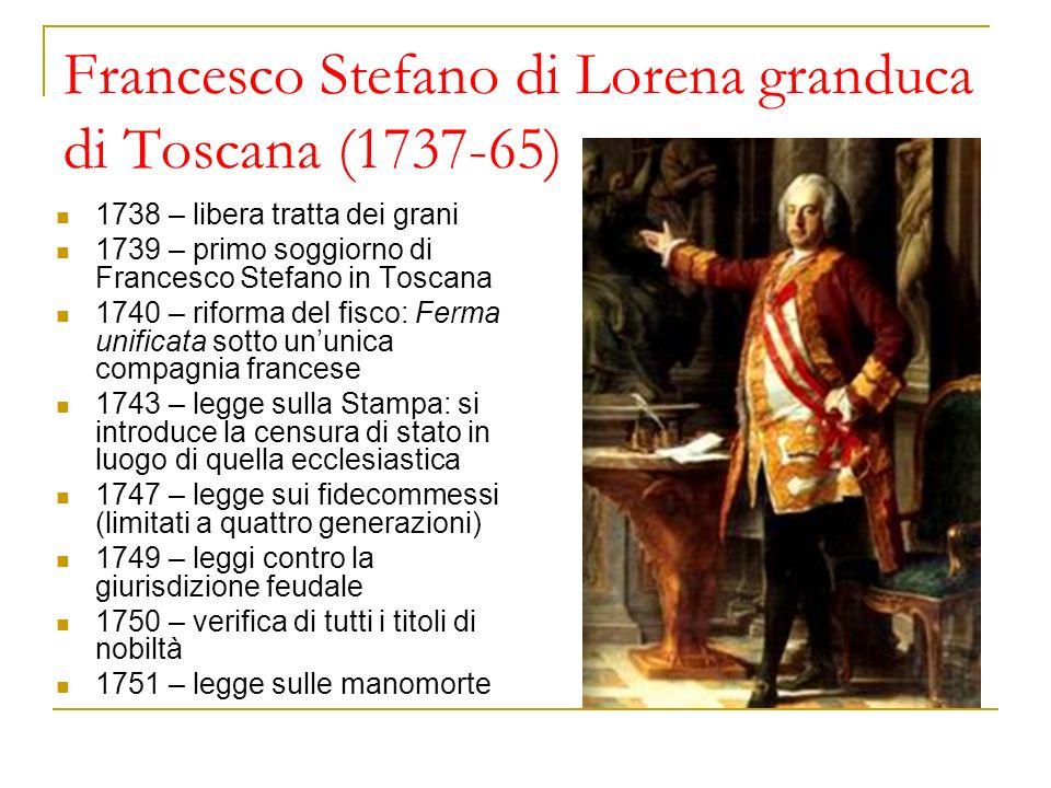 Francesco Stefano di Lorena granduca di Toscana (1737-65)