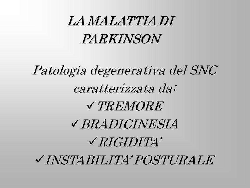 LA MALATTIA DI PARKINSON