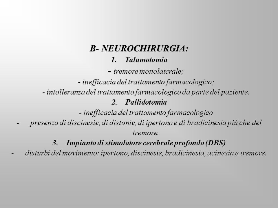 B- NEUROCHIRURGIA: