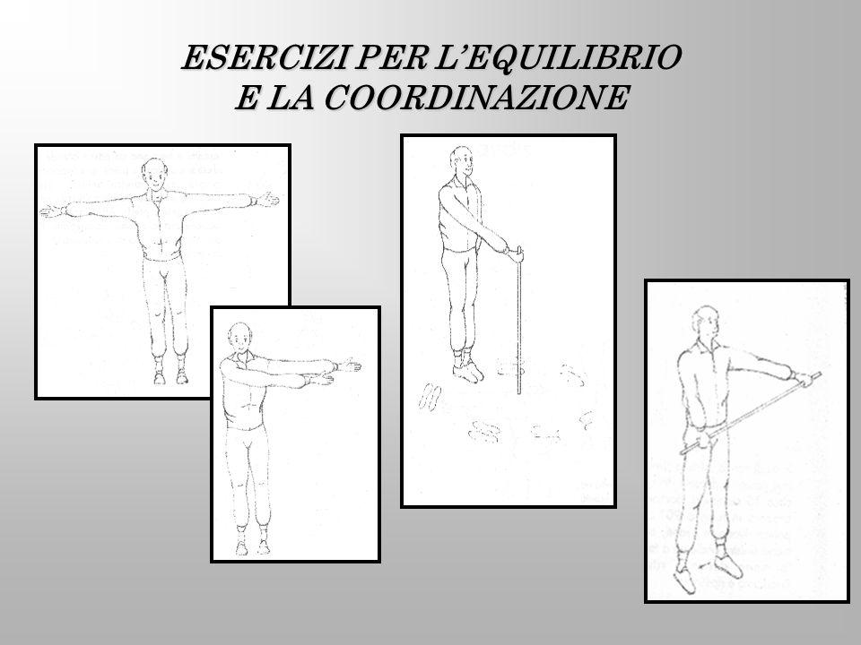 ESERCIZI PER L'EQUILIBRIO E LA COORDINAZIONE