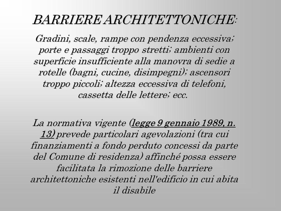 BARRIERE ARCHITETTONICHE: