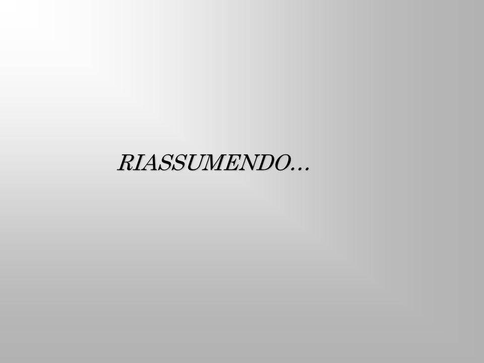 RIASSUMENDO…