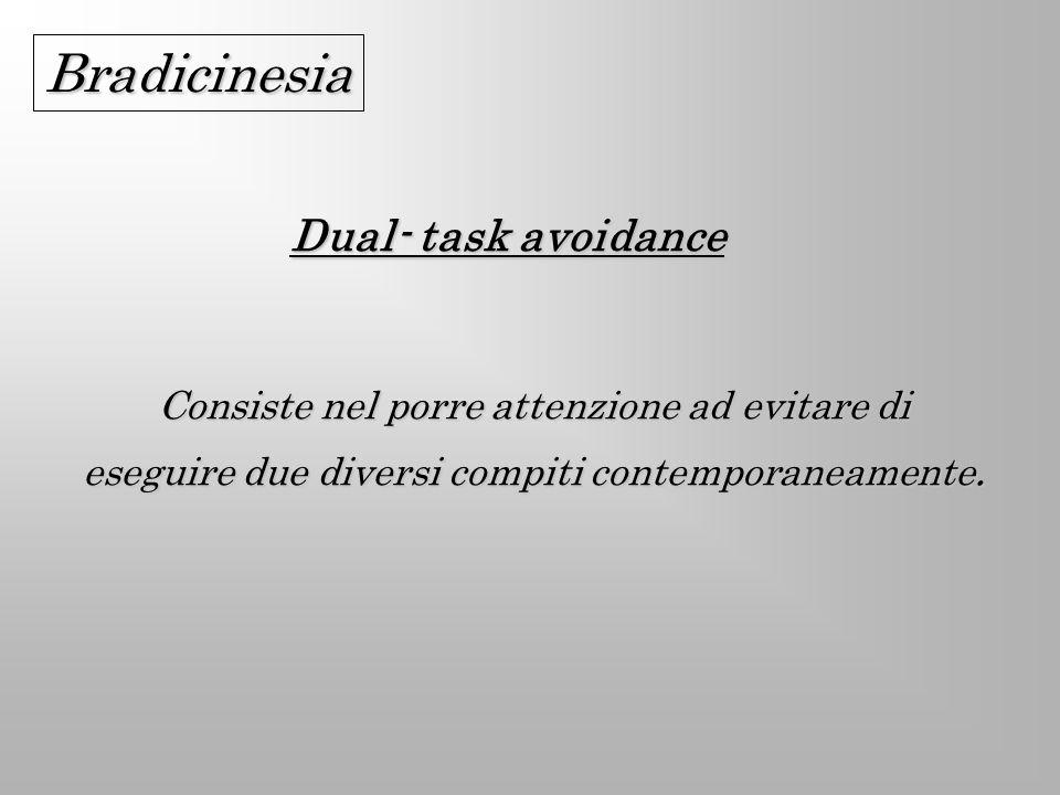 Bradicinesia Dual- task avoidance